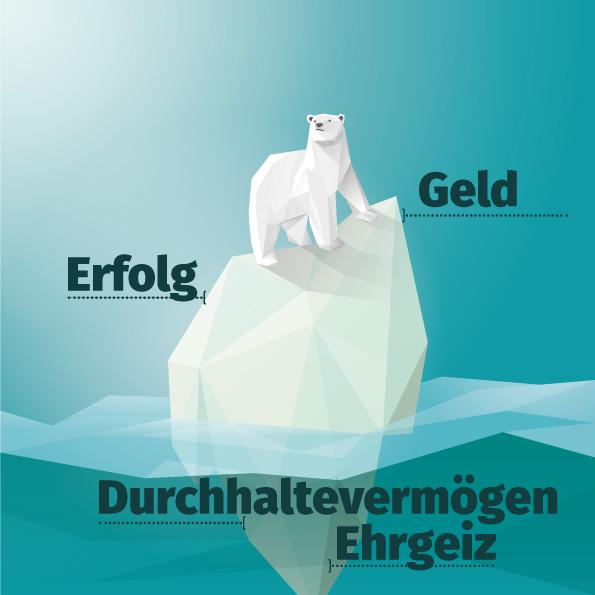 Erfolg ist wie ein Eisberg: Seine Ursachen liegen unter der Oberfläche