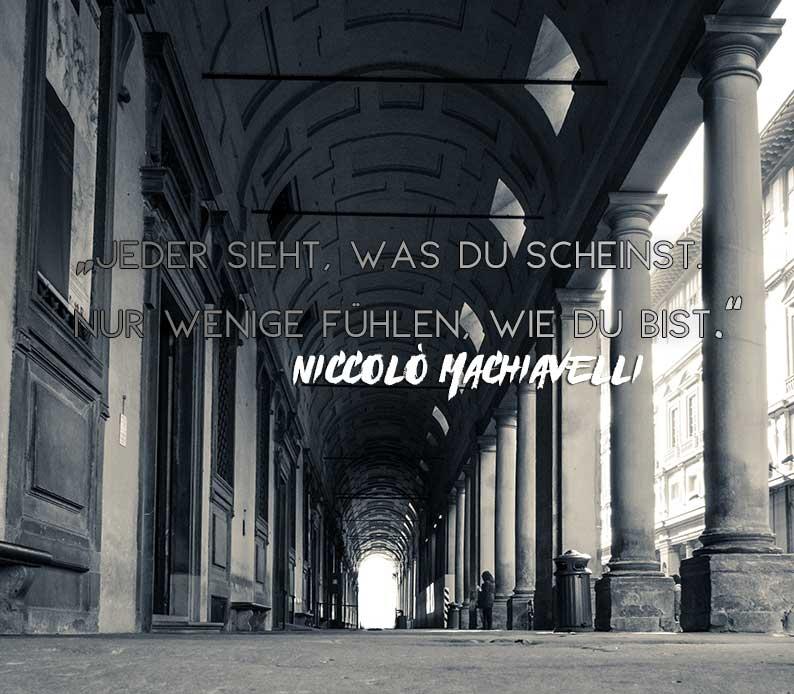 Florenz - Machiavelli Zitat