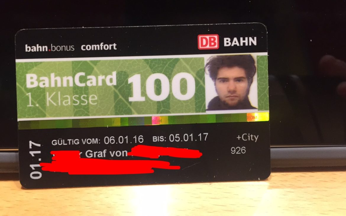 Bahncard 100 First